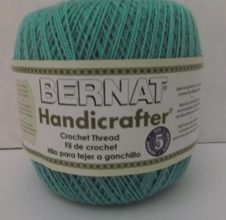 Bernat Handicrafter Crochet Thread Size 5 Still Water 3 Etsy