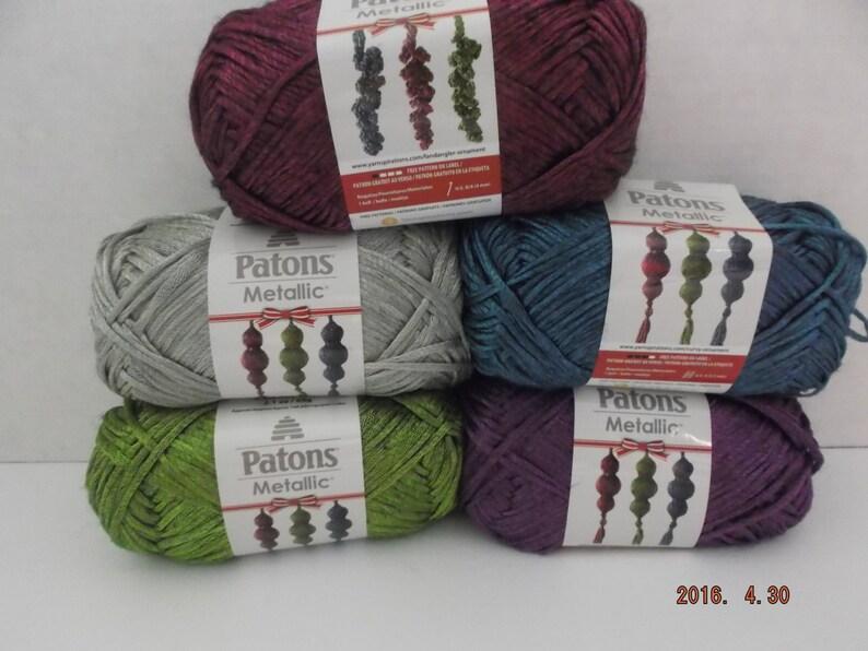 Patons Metallic Yarn Purple 60 Grams 168 Yards 4   Etsy