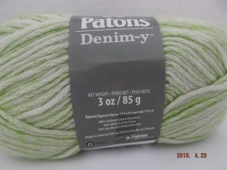 ~ #4 Medium ~ 85 grams ~ 144 Yards ~ Patons Denim-y Yarn ~ Wool Blend ~ Limelight Denim