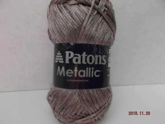 Patons Metallic Yarn Burnished Rose Gold 85 Grams30 Oz Etsy