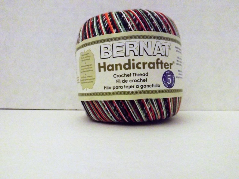 Bernat Handicrafter Crochet Thread Size 5 Merry Etsy