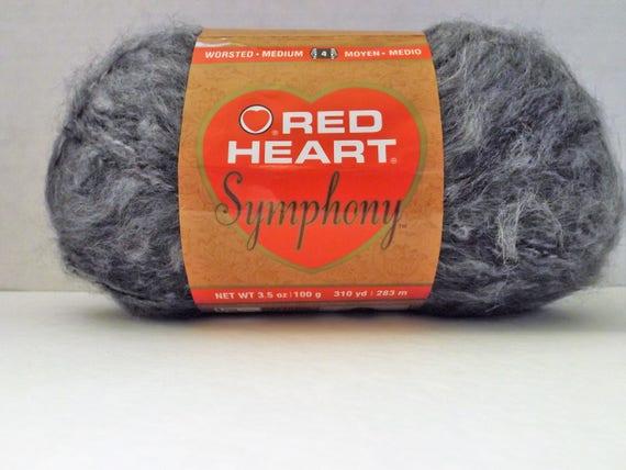 Red Heart Symphony Yarn ~ Redwood #4900 ~ 100 grams3.5 ounces ~ 310 Yards ~ #4 Medium