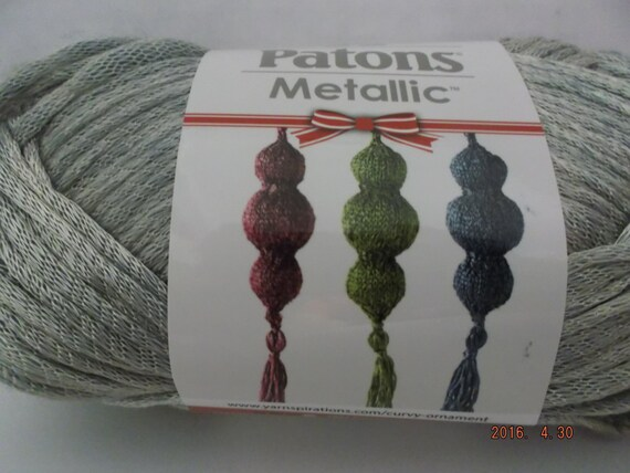 Patons Metallic Yarn Platinum 60 Grams 168 Yards 4 Etsy