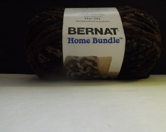 Bernat Home Bundle Yarn ~ Jumbo Ball ~Browns #28014 ~ 250 grams/ 8.8 Ounces ~ 189 meters/207 yards