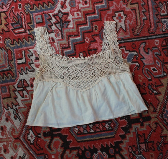 RESERVED*Antique Crochet Camisole S