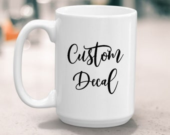 personalized birthday party cups DIY vinyl name decals cups tumblers custom bridal party gifts books Name decals for mugs glassware
