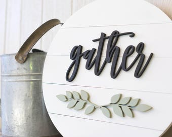 Gather Sign Etsy
