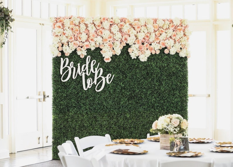 Bride to be sign for backdrop bridal shower decor engagement image 0