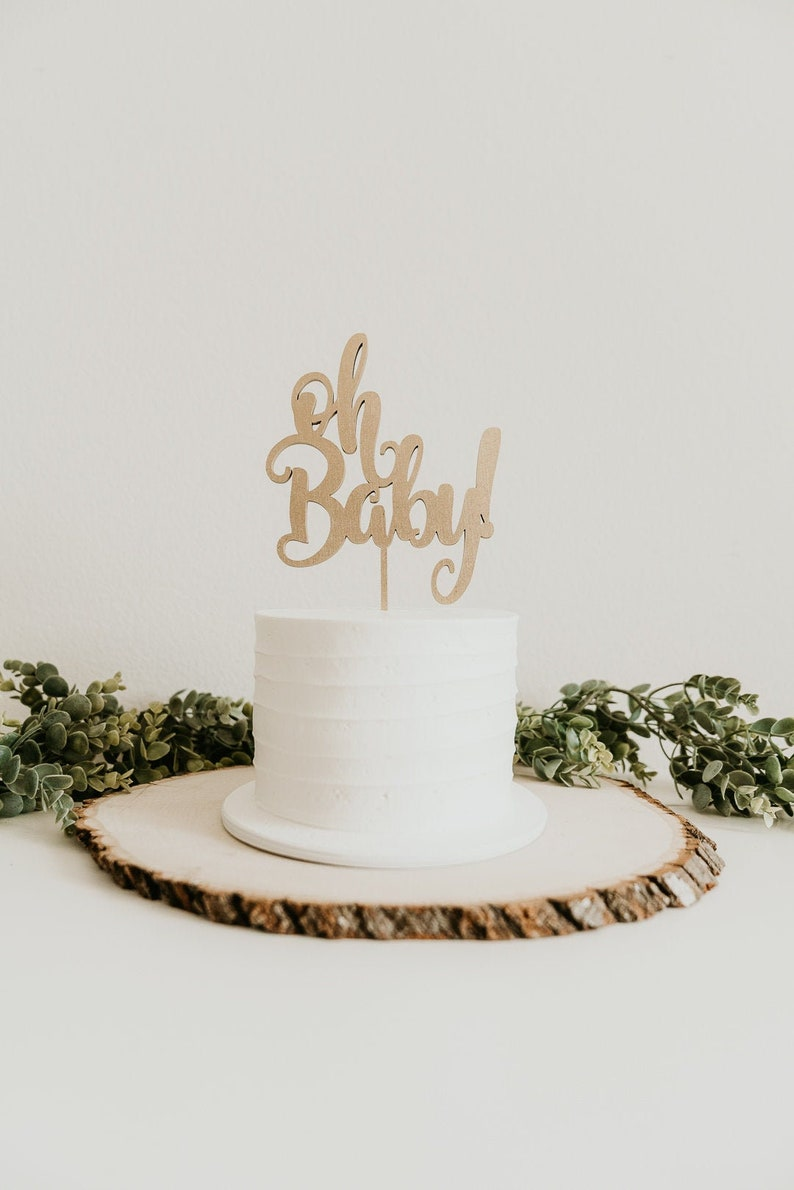 oh baby cake topper baby shower topper baby cake topper image 0