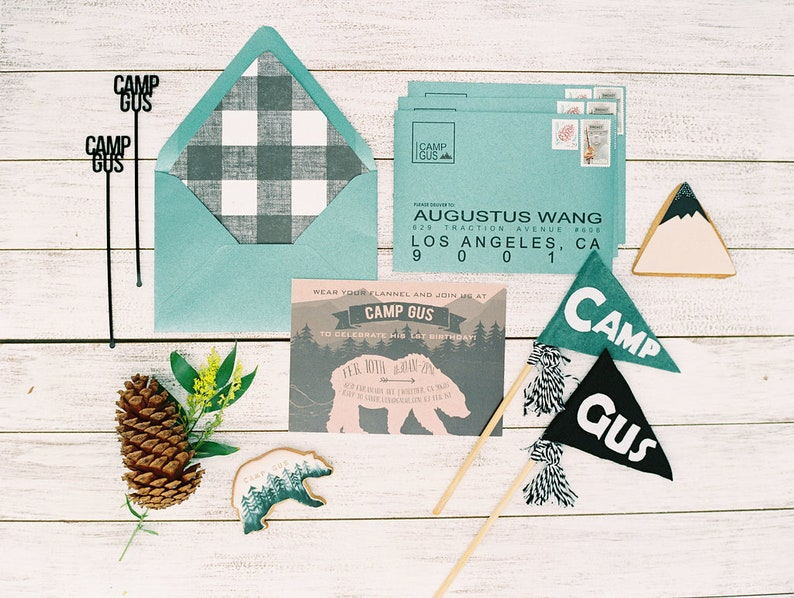 Camp themed drink stirrers drink stirrers customizable drink image 0