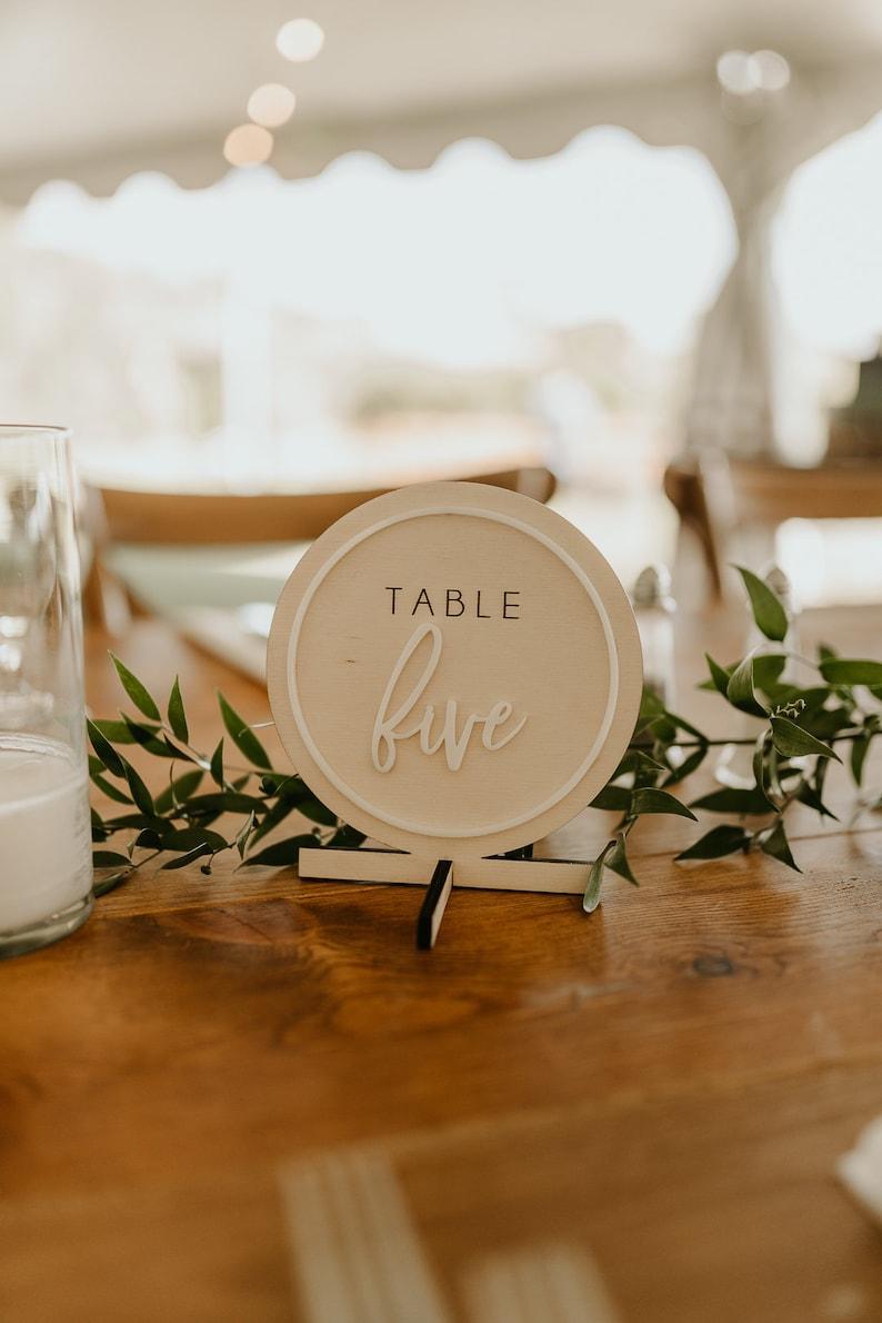 wedding table numbers wooden wedding table numbers acrylic image 0
