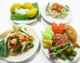 Thai Food Model Miniature Dollhouse Handmade Kitchen Collectible Home Decor