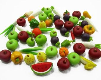 Dollhouse Miniature Food Lot 50  Apple Fruit Clay  Wholesale Supply Deco 1:12