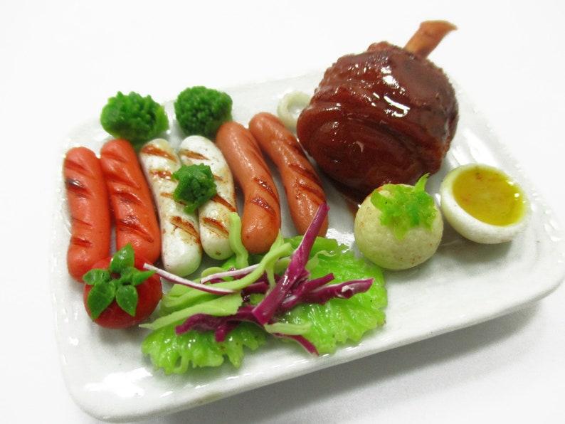 Dollhouse Miniature Grilled Steak Dinner Miniature World