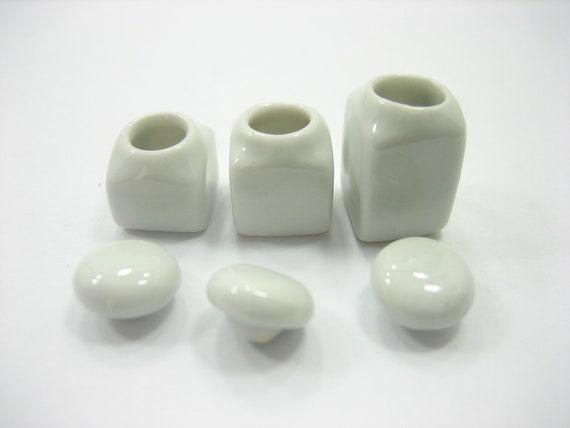 5x3.00 cm White Mini Heart Plate Dollhouse Miniatures Ceramic Supply Food