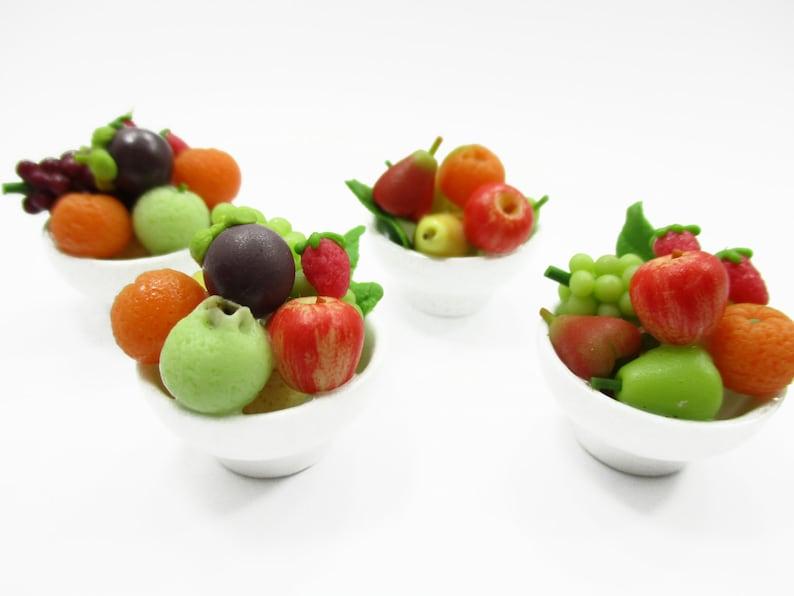 10 Loose Dollhouse Miniatures Mix Fresh Vegetable Ceramic Basket Food  Deco