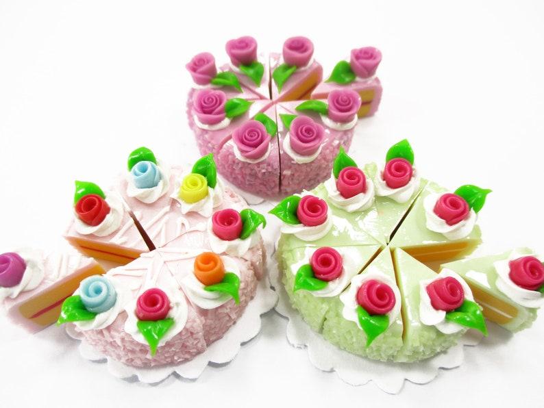 7 Mini Gift Cakes Handmade Dollhouse Miniatures Food Supply Deco Chritsmas