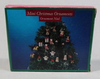 Vintage box of  Miniature Christmas Ornaments