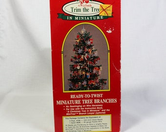 Vintage Michaels Trim the Tree Ready-To-Twist Miniature Christmas Tree Branches