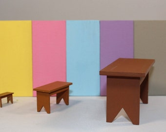 Miniature Wooden Bench - Painted