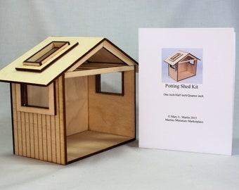 Miniature Garden Shed Kit