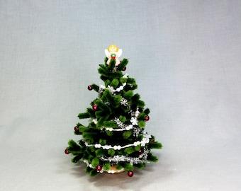 Miniature Christmas Tree with Angel
