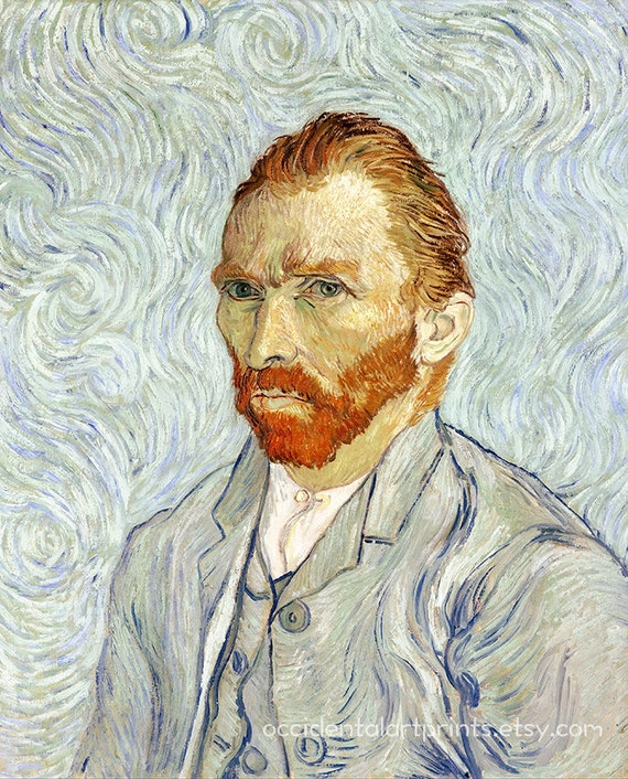 Self-Portrait with short hair by Van Gogh Giclee Fine Art Print Repro on Canvas