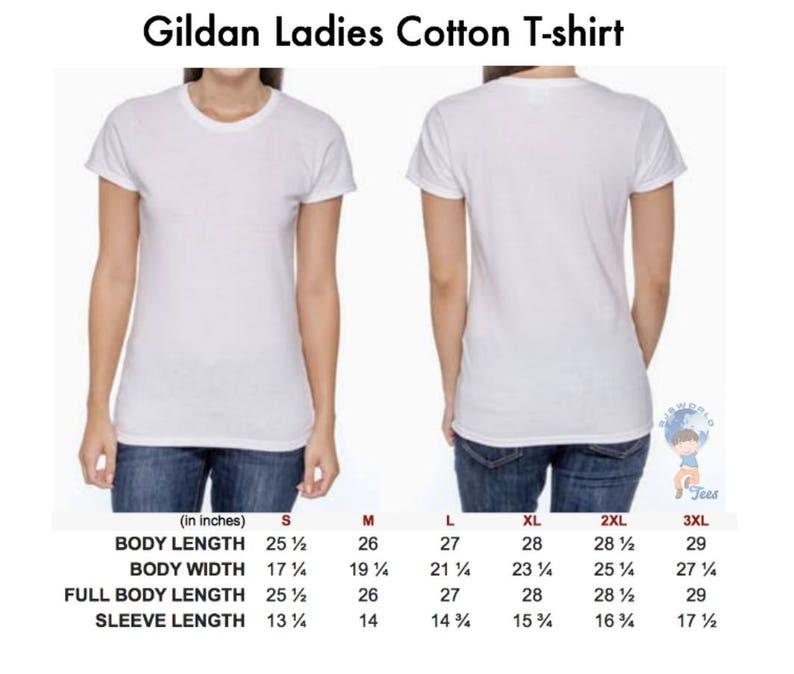 Gildan Size Chart For Women T Shirts And Tank Tops
