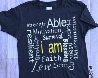 I Am Personality Tshirt, Personalized Tshirt, Love Tshirt, Son Tshirt, Hope Tshirt, Survivial Tshirt, Customized Tshirt