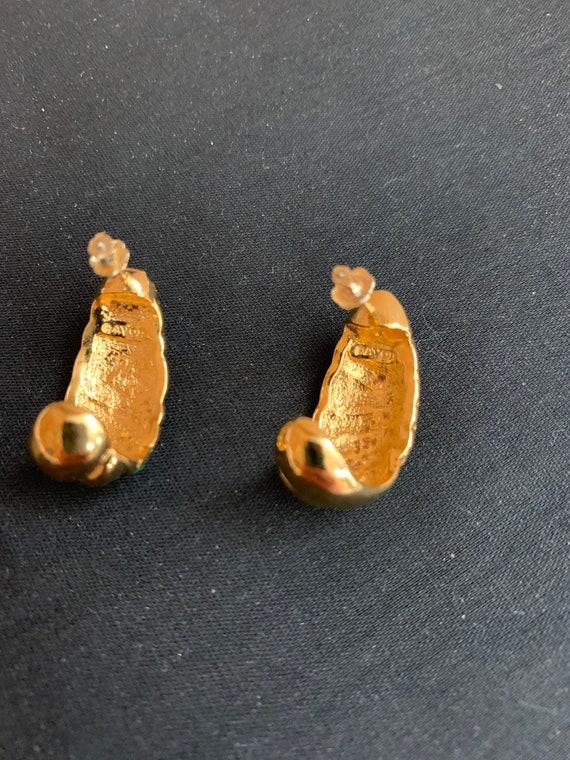 Multi color enamel hoops earrings Women jewelry Vintage women/'s earrings Bright enamel hoops earrings
