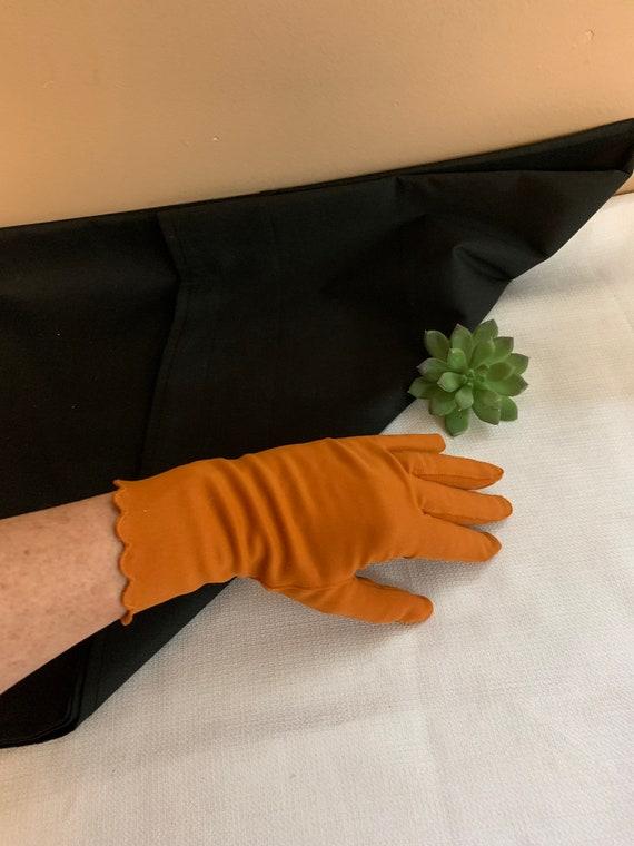 Vintage Copper Brown Gloves, Ladies Gloves, Formal