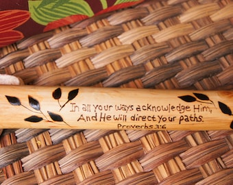 Scripture Stick/ Walking Stick/ Hiking Stick/ Father's Day Gift/Bride and Groom Gift/ Customized Walking Stick/ Personalized Hiking Stick