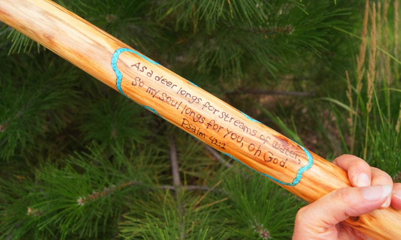 Scripture Stick Walking Stick Hiking Stick Father/'s Day GiftBride and Groom Gift Customized Walking Stick Personalized Hiking Stick