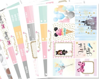 Magic Kingdom Planner Sticker Kit for use with ERIN CONDREN LIFEPLANNER™, Happy Planner, Travelers Notebook etc