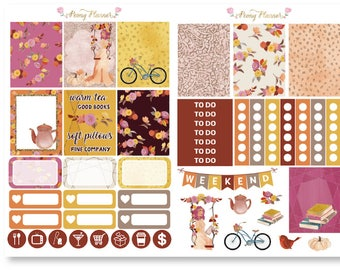 Autumn Bliss Weekly Sticker Kit for use with ERIN CONDREN LIFEPLANNER™, Happy Planner, Travelers Notebook etc