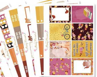 Autumn Bliss Planner Sticker Kit for use with ERIN CONDREN LIFEPLANNER™, Happy Planner, Travelers Notebook etc