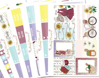One Fine Day Planner Sticker Kit for use with ERIN CONDREN LIFEPLANNER™, Happy Planner, Travelers Notebook etc