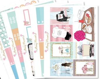 Pamper Night Planner Sticker Kit for use with ERIN CONDREN LIFEPLANNER™, Happy Planner, Travelers Notebook etc
