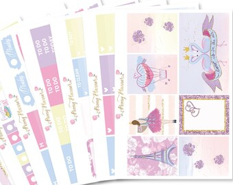 Eiffel Romance Valentine Planner Sticker Kit for use with ERIN CONDREN LIFEPLANNER™, Happy Planner, Travelers Notebook etc