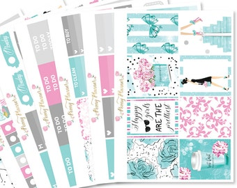 Tiffany Gone Shopping Planner Sticker Kit for use with ERIN CONDREN LIFEPLANNER™, Happy Planner, Travelers Notebook etc
