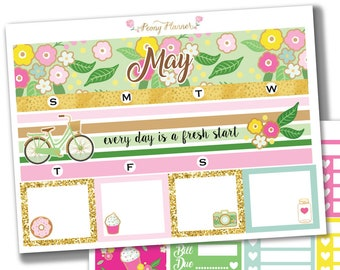 May Monthly View Kit Planner Stickers for use with ERIN CONDREN LIFEPLANNER™