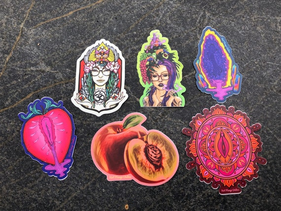 Hot Mango Stickers 1 piece or 6 pack options