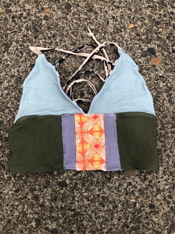 A-C scrapwork corset top