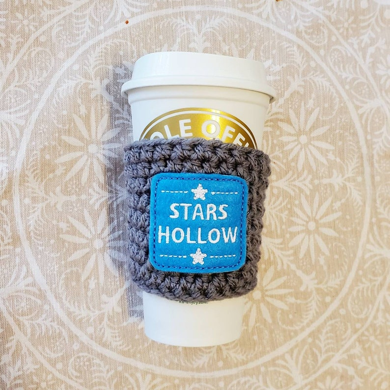 Stars Hollow Coffee Cozy Crochet coffee cozy crochet coffee image 0