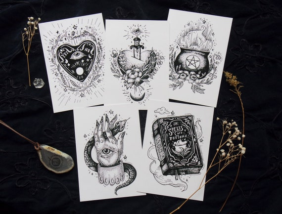 Witch Art Witch Art Print Witch Decor Witch Aesthetic Etsy