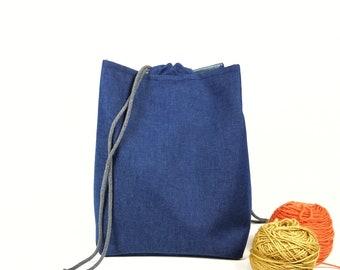 XXL Project Bag, RiceBag, Project Bag, Komebukurobag, Projectbag, Knitted Project Bag, Knittingbag, , Komebukuro, Rice Bag