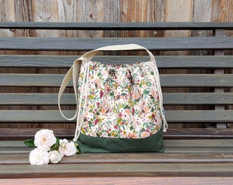 Field Bag, Project Bag, Project Bag, Knitted Project Bag, Handicraft Bag, Knitting Bag Size M