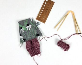 Needle holder for knitting games, trio needle garage, needle safe, circular needle cosy, needle holder