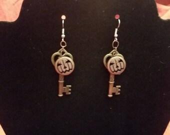 Skellington Key Earrings