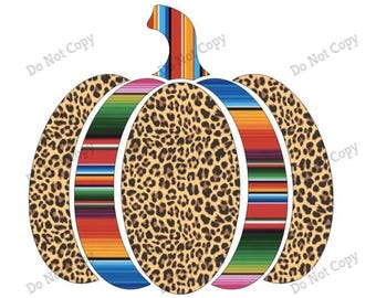 Leopard Serape Pumpkins Sublimation Transfers Fall